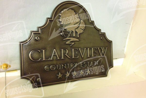 Acrylic Engraved Plates, Metal Coated